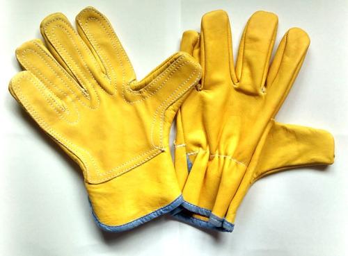 guantes vaqueta carnaza lona vestuario soldador fábricamos