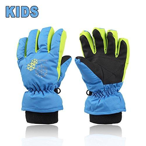 guantes xtacer boy's girl's kid's ski snow gloves (blue, s)