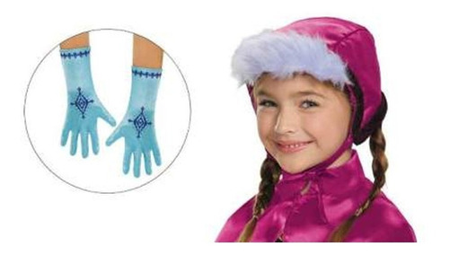 guantes y gorro de anna frozen 83213 tu disfraz