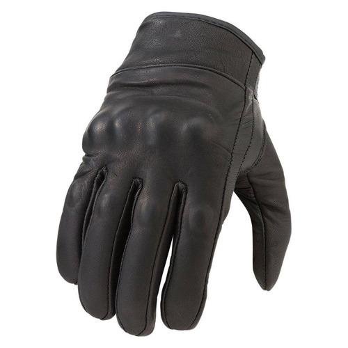 guantes z1r 270 mujer cuero  negro lg