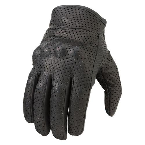 guantes z1r 270 mujer cuero perforado negro md