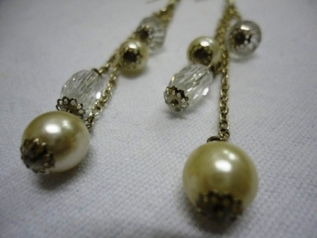 guaraná brasil brincos cristal e pérolas metal gancho