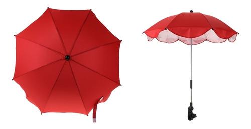guarda-chuva ajustável com braçadeira universal, para carrin