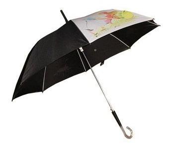 guarda chuva estampado com cabo de acrílico 8 varetas fk5883