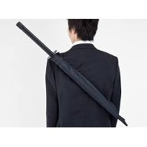 guarda-chuva formato espada samurai ninja automático120 cms