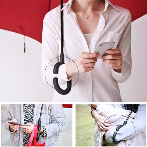 guarda chuva invertido sombrinha ao contrário duplo tecido