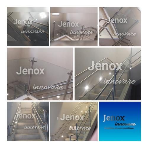 guarda corpo e corrimão em aço inoxidável jenox innovare