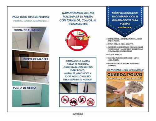 guarda polvo para puertas sin necesidad de tornillos