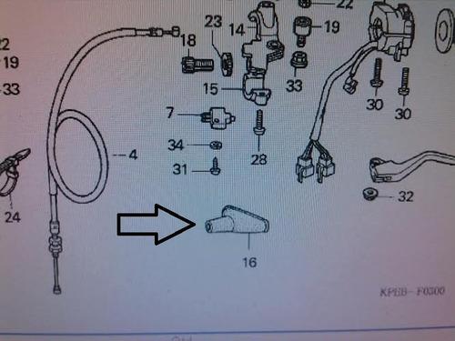 guarda pó(par)manete freio/embr  tornado 250/xre300 original