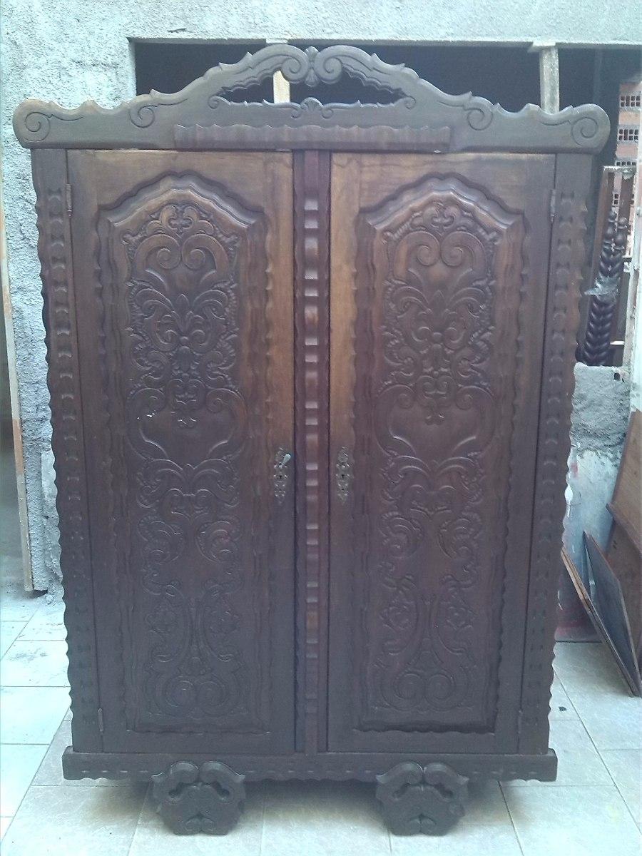 Restaurar Guarda Roupa Antigo : Guarda roupa portas r?stico entalhado em jacarand?