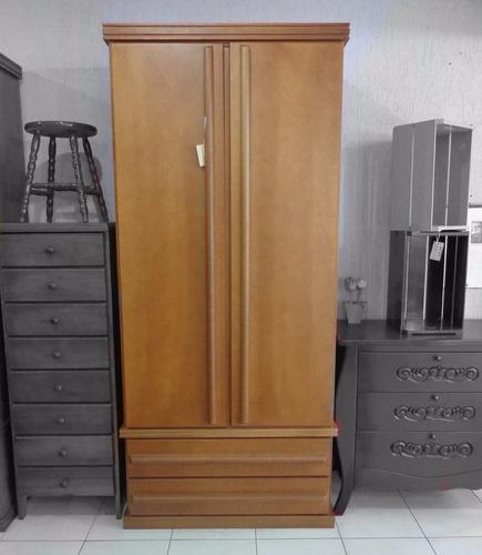 guarda roupa armario roupeiro madeira maciça 2 portas quarto