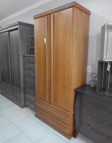 guarda roupa armario roupeiro madeira maciça quarto solteiro