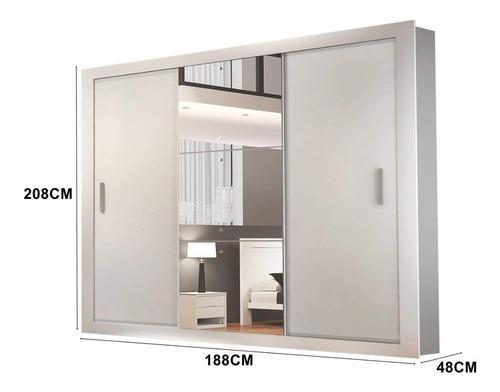 guarda roupa casal 3 espelhos 3 portas carina siena eh