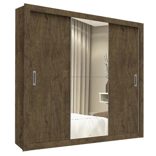 guarda roupa casal com espelho 3 portas space flex ei