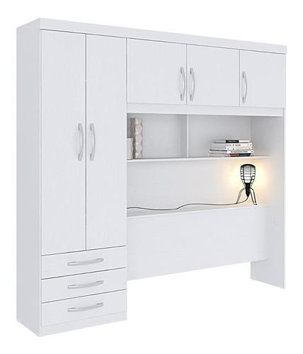 guarda-roupa édez ph1207 5 portas sem cama - branco