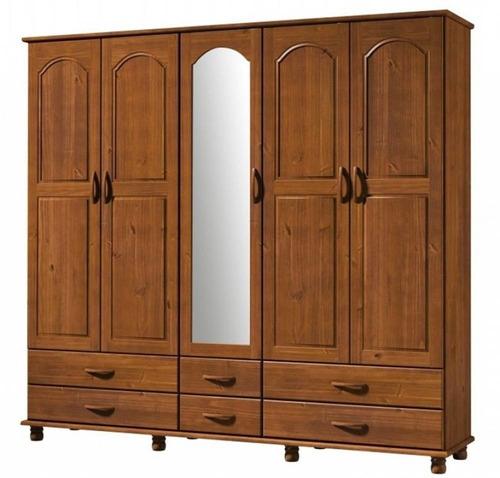 guarda roupa - madeira maciça - 05 portas e 06 gavetas com e