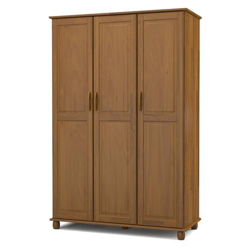 guarda-roupa madeira maciça kitimar roma com 3 portas - taba