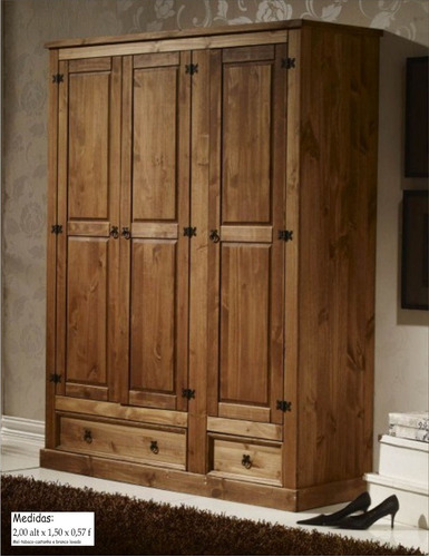 Guarda roupa madeira maci a r stico armario roupeiro r - Home24 schrank ...