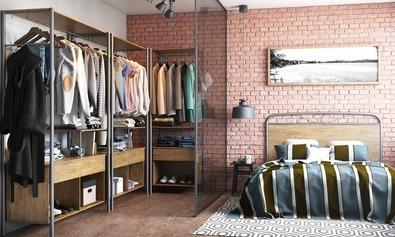 f050b230a9 Guarda-roupa Sem Portas Para Closet Barcelona Envio Imediato - R ...