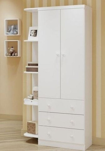 Armario Estreito Branco : Guarda roupa sm prateleiras gavetas branco bebe