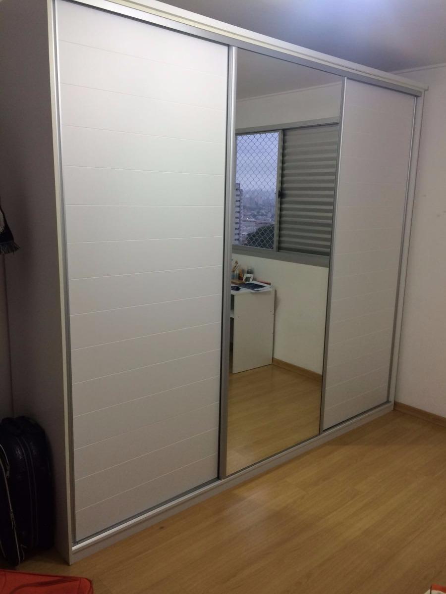 Aparador Inox E Vidro ~ Guarda Roupa Tok&stok Plan Frizz 3 Portas Branco Com Espelho R$ 1 500,00 em Mercado Livre