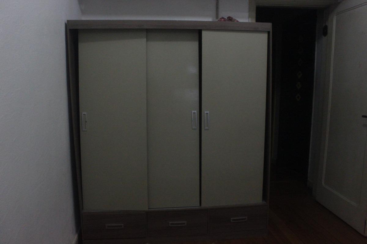 fa9087150 guarda roupas bartira aires 3 portas de correr 3 gavetas. Carregando zoom.