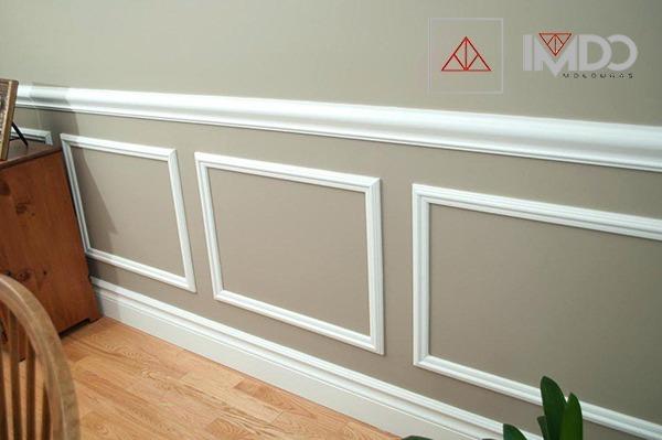Guarda sillas moldura madera para pared decoracion 10cm - Moldura madera pared ...