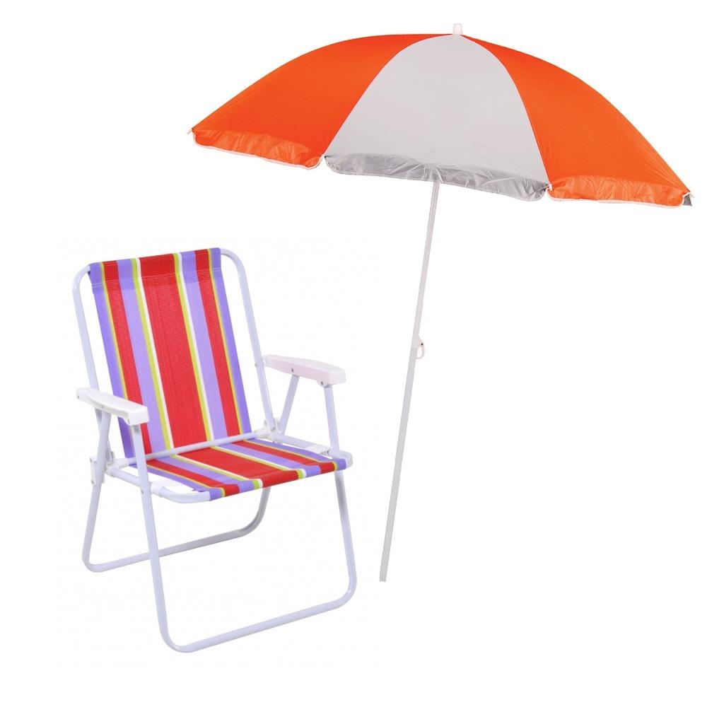 Guarda-sol + Cadeira Praia Piscina Mor Polietileno Aco - R  164,18 ... 877c589f82