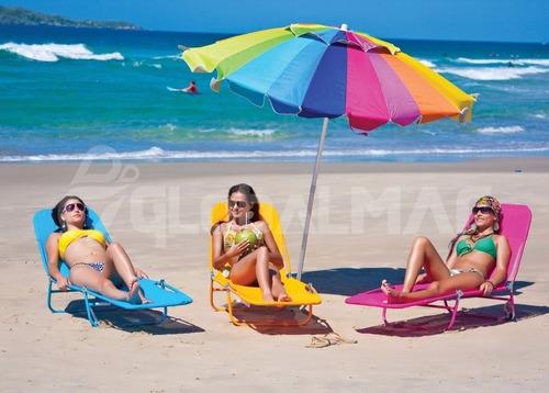 guarda sol grande colorido piscina praia mor poliéster 2,2m