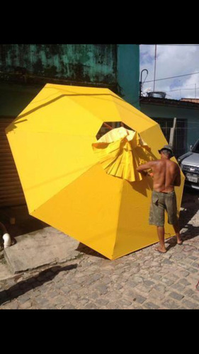 guarda sol ombrelone madeira 4,00 metros
