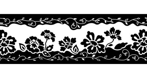 guarda vinilizada muresco 92011 flor negra 0,17 x 5mts soul