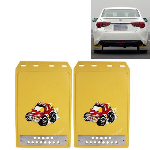 guardabarro 2 pcs 003 premium para trabajo pesado amarillo