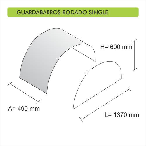 guardabarros para cubierta single