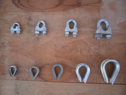 guardacabos galvanizados x 10 unidades