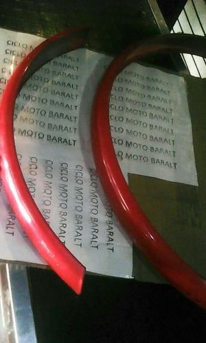 guardafanfo bicicleta sifrina par rojo