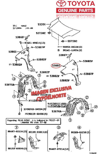 guardafango delantero izquierdo yaris hb 06 09 original