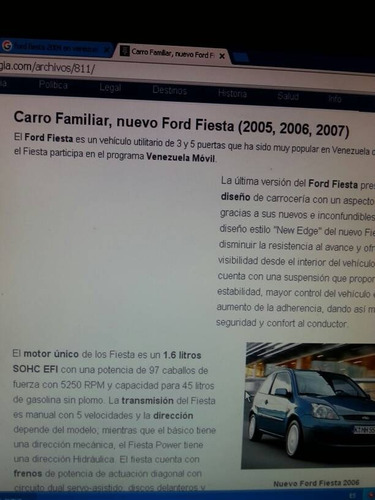 guardafango fiesta 2005-2006-2007 izquierdo lado chófer 100v