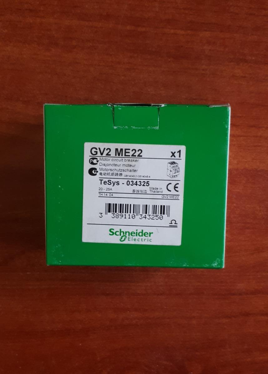 Schneider Electric GV2ME22 20 A 25 A Motor Interruptor TeSys 034325