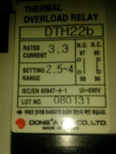 guardamotor overlod relay dth22b devico hyundai
