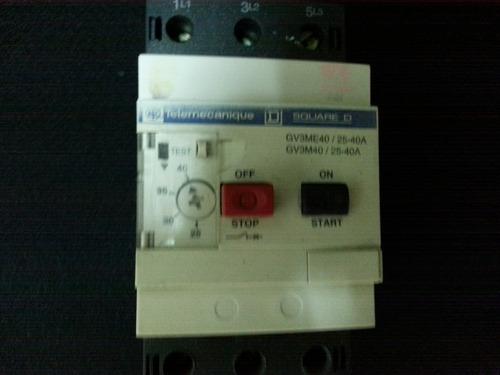 guardamotor trifasico telemecanique de 25 a 40 amp
