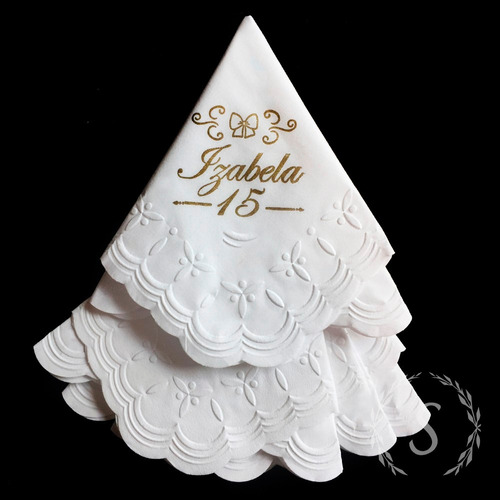 guardanapos papel personalizados aniversários, 15 anos festa