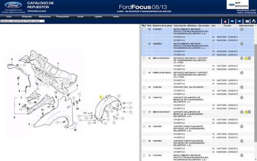 guardaplast del legitimo ford focus 2 08/13 directo fabrica