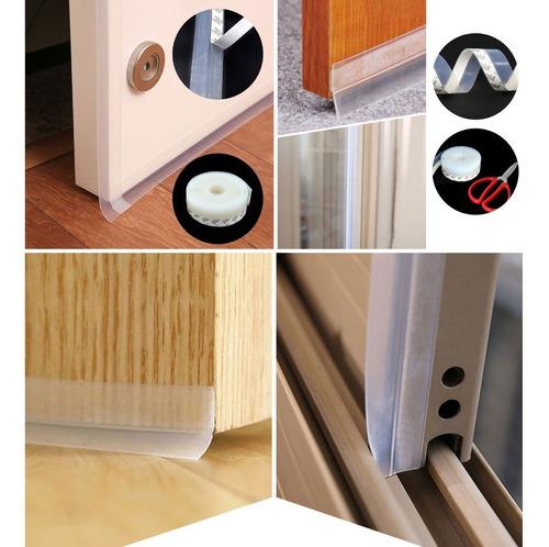 guardapolvo adherible 2m para puerta evita insectos y polvo