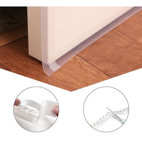 guardapolvo adherible para puerta evita polvo e insectos