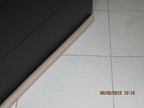 guardapolvo para puertas sin necesidad de tornillos 4 piezas