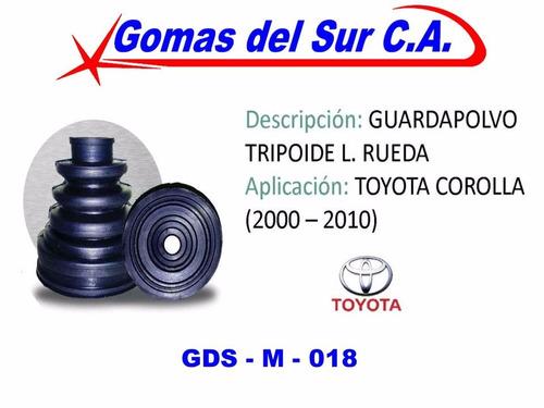 guardapolvo tripoide lado rueda toyota corolla 00-12