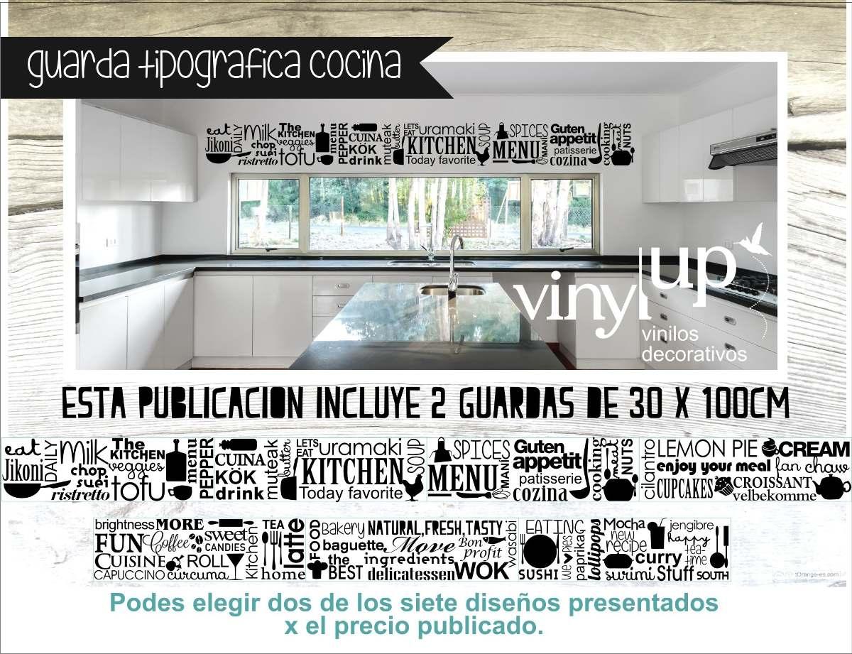 Vinilos para pared cocina stunning textos en vinilos with for Guardas para cocina