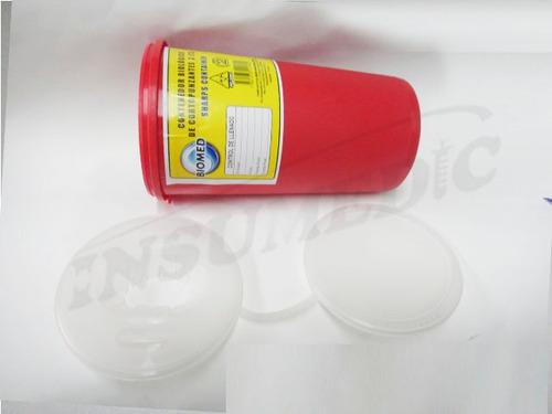 guardian deposito para cortopunzantes tachos biomed 3 litros