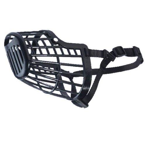 guardian gear cesta de plástico flexible dog muzzlelarge, ne
