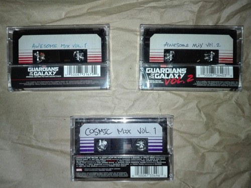 guardianes de la galaxia cassette oficial awesome mix vol 2
